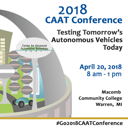 2018 CAAT Conference - Testing Tomorrow's Autonomous Vehicles Today