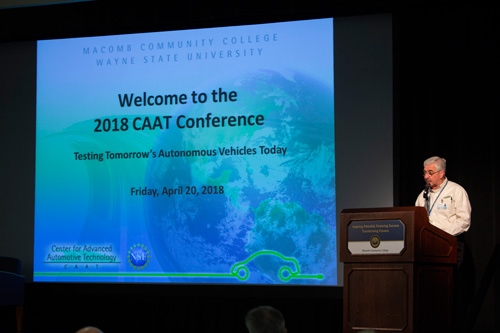2018 CAAT Conference Testing Tomorrow's Autonomous Vehicles Today